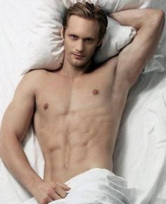 Eric Northman for no other reason but that he's a vampire and it's Halloween. You're welcome.
